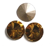 3pc Crystal Rivoli Stone 14mm Light Colorado Topaz