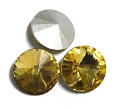 3pc Crystal Rivoli Stone 14mm Yellow