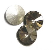 3pc Crystal Rivoli Stone 14mm Black Diamond