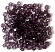 30pc Faceted Round Crystals Tanzanite Purple 4mm