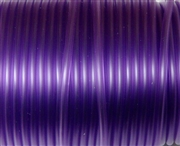 3m 2mm rubber tubing Hollow Trans Purple