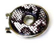 1pc silver plated round slider bead 2 hole purple