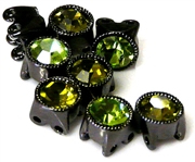 3pc nickel plated 8mm green mix slider