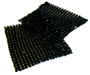 1pc black metal mesh square