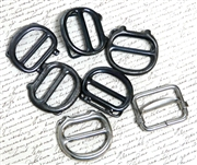7pc assorted plain watch buckles silver & nickel