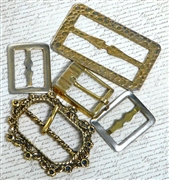 5pc assorted fancy watch buckles gold antique