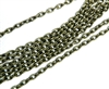 2m etched chain antique brass 3mm