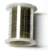 10m reel silver 28 gauge wire