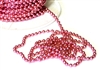 1m coloured ball chain 3mm pink