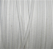 4m flat faux suede 3mm width White