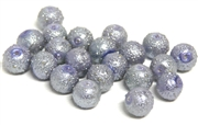 10pc Sugar Glass Pearls 8mm Lilac