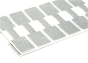 48 metallic silver jewellery tags square