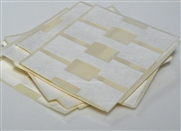 48 white jewellery tags square
