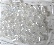 10pc Faceted Crystal Twist Rounds Clear AB 8mm