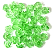 10pc Faceted Crystal Twist Rounds Peridot Green 8mm