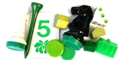 10pc assorted vintage game pieces green