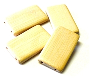 4pc bamboo beige 2 strand base beads large