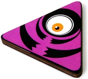 1pc woodcut fuchsia triangle eye 46x41mm