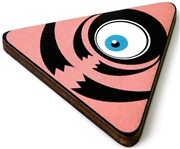 1pc woodcut pink triangle eye 46x41mm