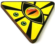 1pc woodcut yellow triangle eye 46x41mm