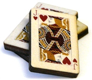 1pc woodcut playing cards jack of hearts 29x20mm