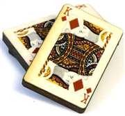 1pc woodcut playing cards king of diamonds 29x20mm