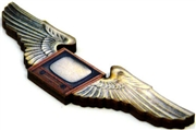 1pc flying tv woodcut large