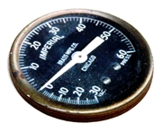 1pc Woodcut Imperial Gauge 40mm