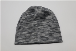 Grey/Black Striped Beanie