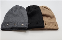 Beanie with Gold Stars