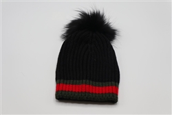 Gc Inspired Beanie with Pom Pom