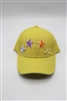 Yellow Baseball Cap with Colored stars
