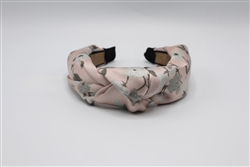 Light Pink Floral Print Knotted Headband