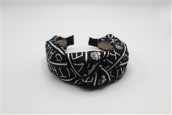 Black and White Knotted Headband