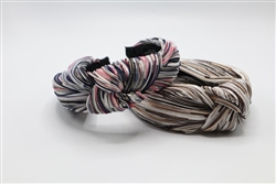 Multicolor Metallic Knotted Headband