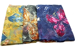 Traditional Butterfly Printed Scarves
