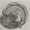 Antique Baccarat Hunter & Dog Sulphide - Clear Ground