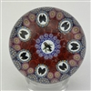Mike Hunter Millefiori  Paperweight w/Chicadee Cane