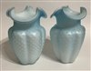 Pair of Satin Glass Vases