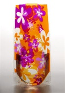 Expandable Vase En Flor Orange