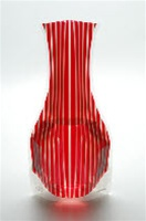 Expandable Vase Lace Tica Red