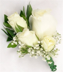 White Corsage & Boutonnieres