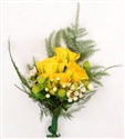 Yellow Corsage & Boutonniere Package