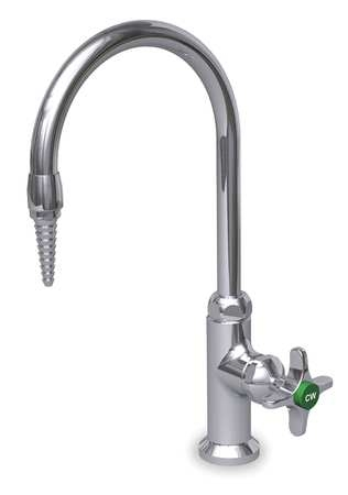 Water Saver Lab Gooseneck Faucet With Serrated End Cross