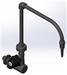 PVC Swivel Wall Mount Lab Faucet