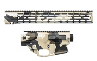 "AERO PRECISION M5E1 HIGHLAND HUNTER CAMO BUILDER SET W/ ATLAS R-ONE 15"" MLOK RAIL"