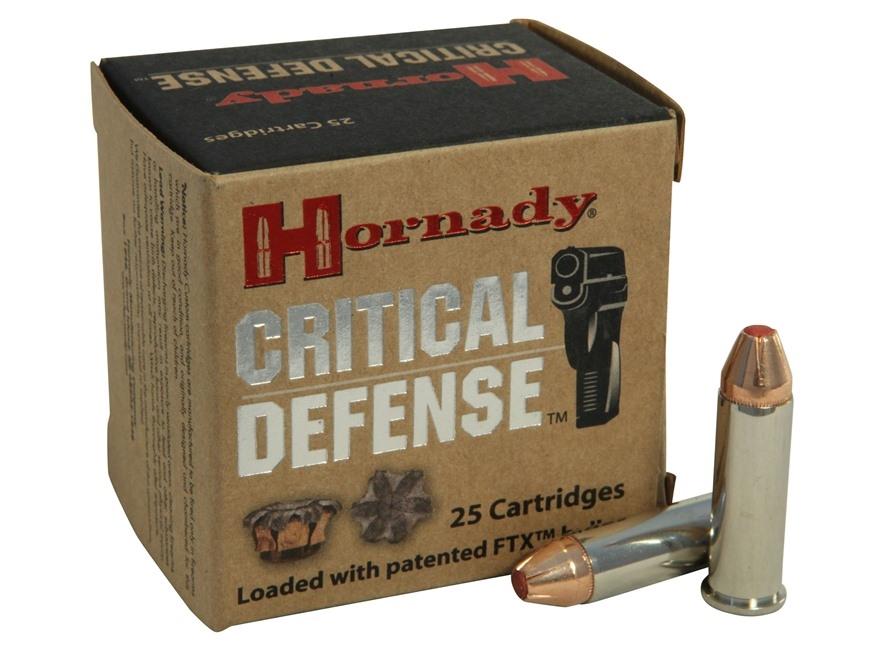 HORNADY CRITICAL DEFENSE 38 SPCL +P 110 GR FTX