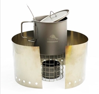 TOAKS ULTRALIGHT TITANIUM ALCOHOL STOVE WITH 650ml POT COOK SYSTEM