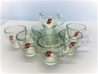 Espresso Glass Cup and Saucer Set of 6