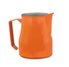 Europa Milk Pitcher Stainless Steel Orange Professional 25 Oz.